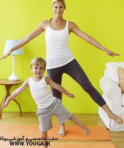آموزش یوگا مادر و کودک